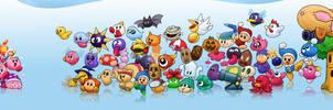 Kirby's Dream Land LP character art