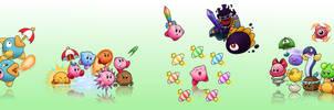 Kirby's Dream Land 2 LP character art