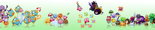 Kirby's Dream Land 2 LP character art by Torkirby