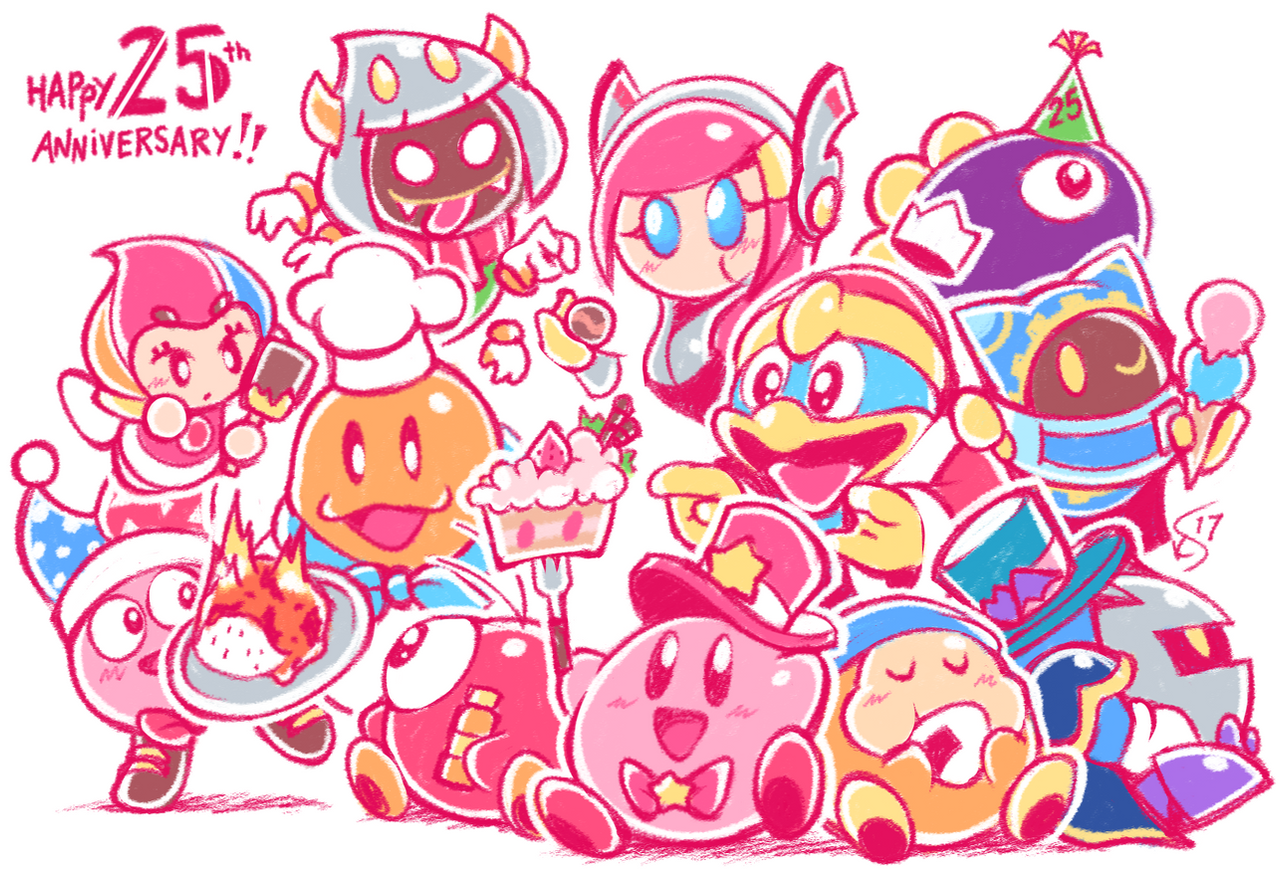 Meta knight and kirby favourites by gamerdragon07 on deviantart mikoto tsuki 226 28 kirbys 25th by torkirby voltagebd Image collections