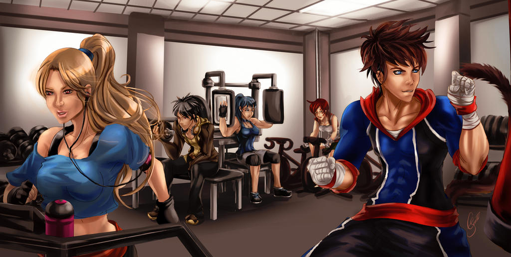 COMMISSION: Workout by crysiblu