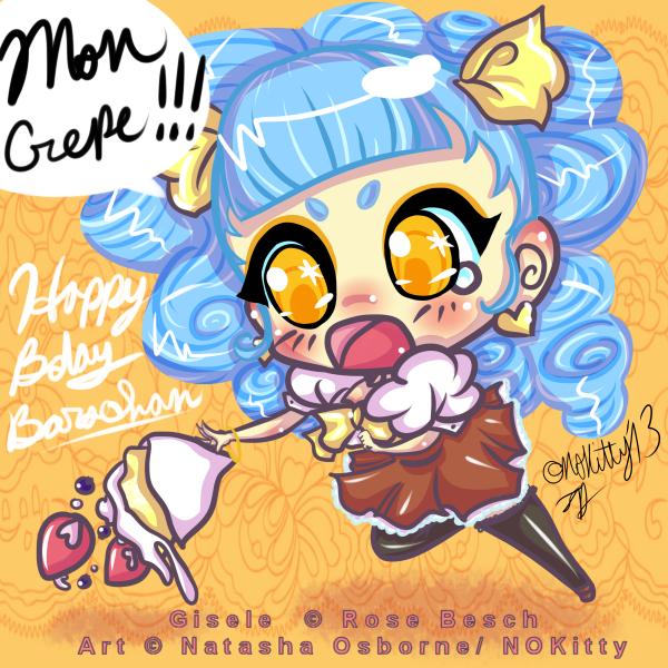 Gisele Birthday Crepe by missnokitty