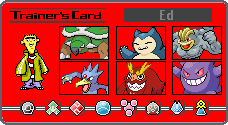 Ed's Trainer Card by MDCCLXXVI