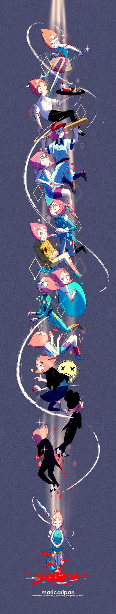 Steven Universe - Pearl + SPEEDPAINT by maricaripan