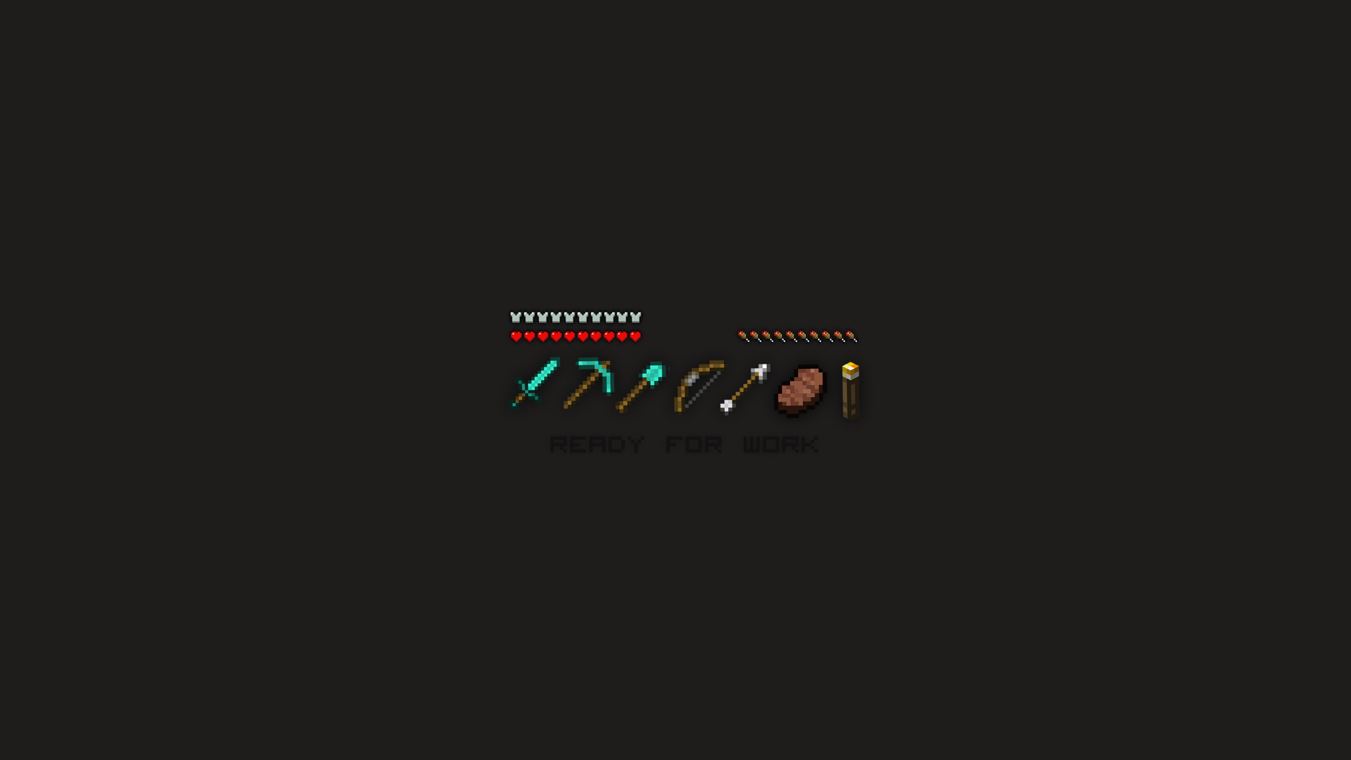 Minimalistic Ready For Work Minecraft Wallpaper By