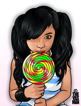 Nisa and her huge... Lolly.