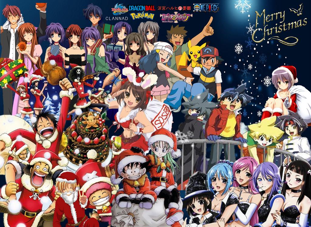 Anime Christmas 2014 by Cokedark11 on DeviantArt