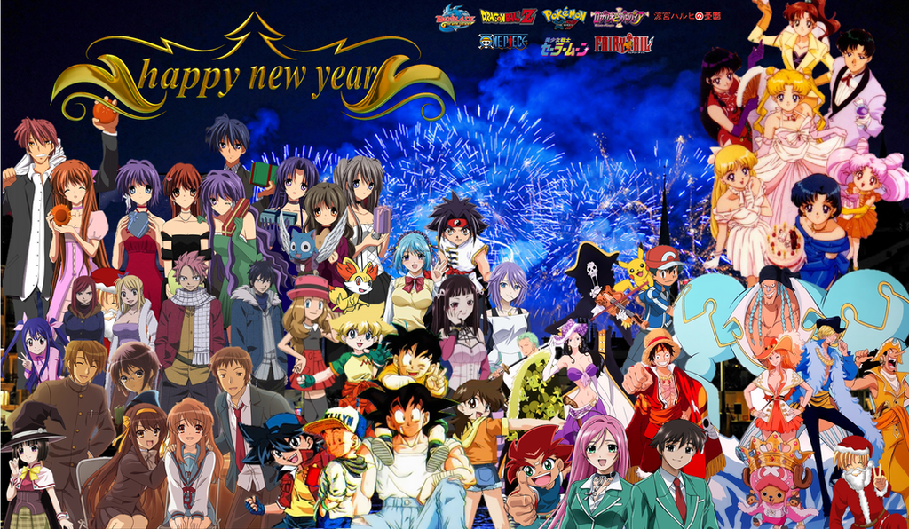 anime happy new year 2015 by cokedark11 on deviantart