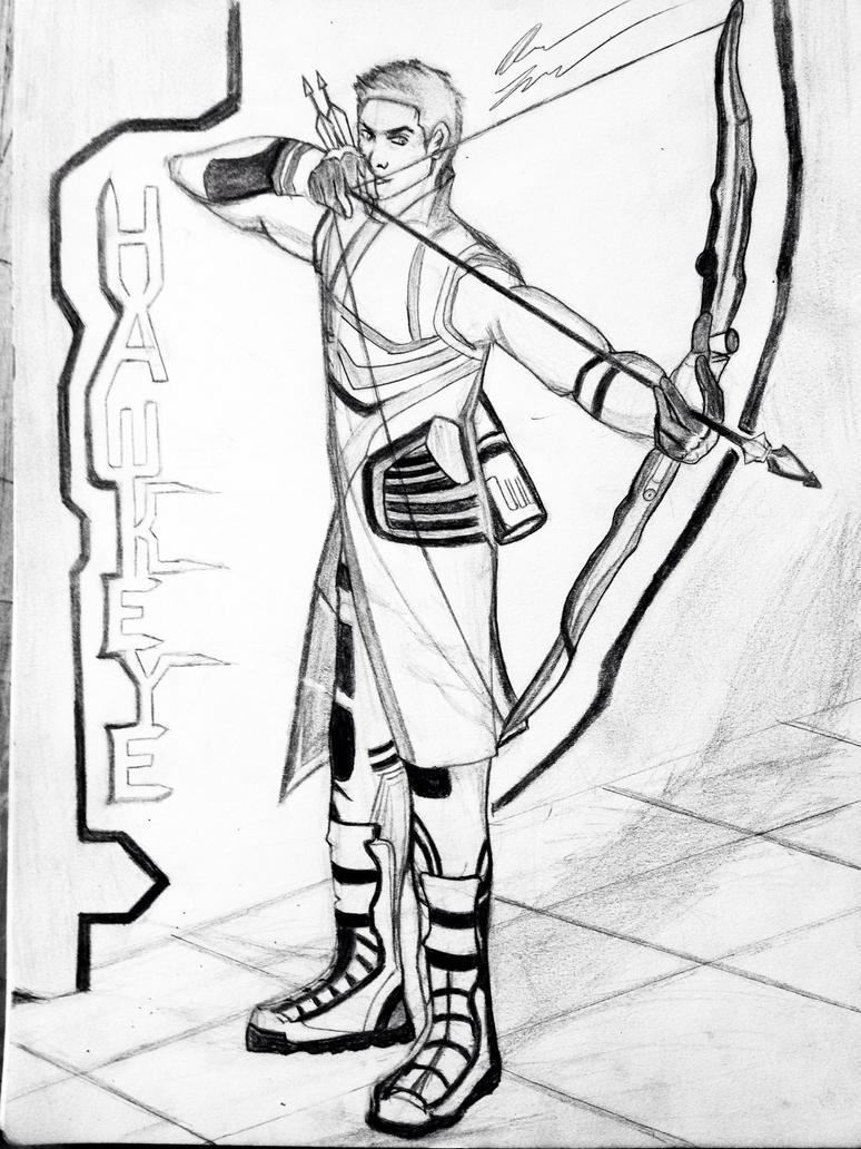 Avengers illustration of Hawkeye by aaron8385