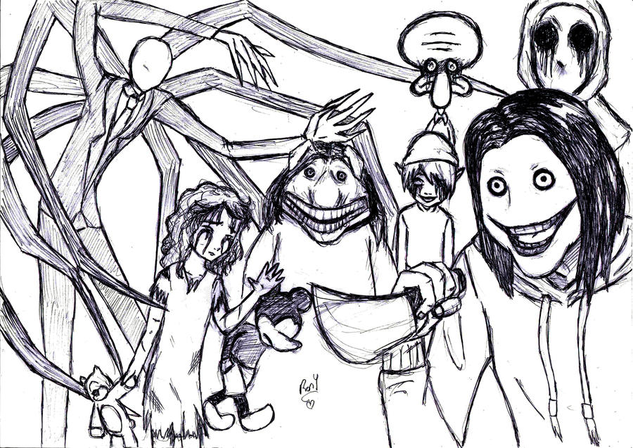 creepypasta coloring pages online - photo#10