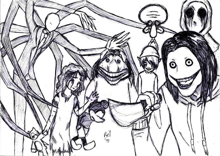 Creepypastas Family by RoryJackson on DeviantArt