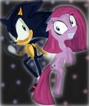 Dark Sonic and Pinkamina