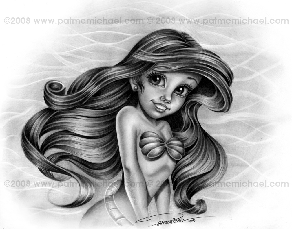 ariel the little mermaid by patmcmichael on deviantart