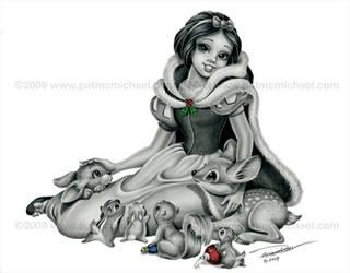 Snow White Xmas card by pat-mcmichael