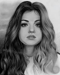 Lucy Hale in progress by pat-mcmichael