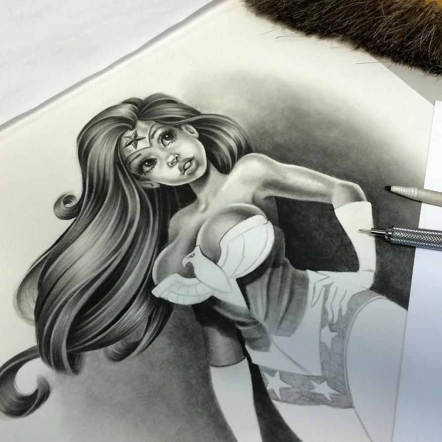 Wonder Woman Still in progress by pat-mcmichael