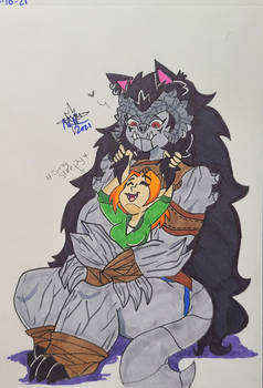 Brunhild enjoy cuddling Mia together