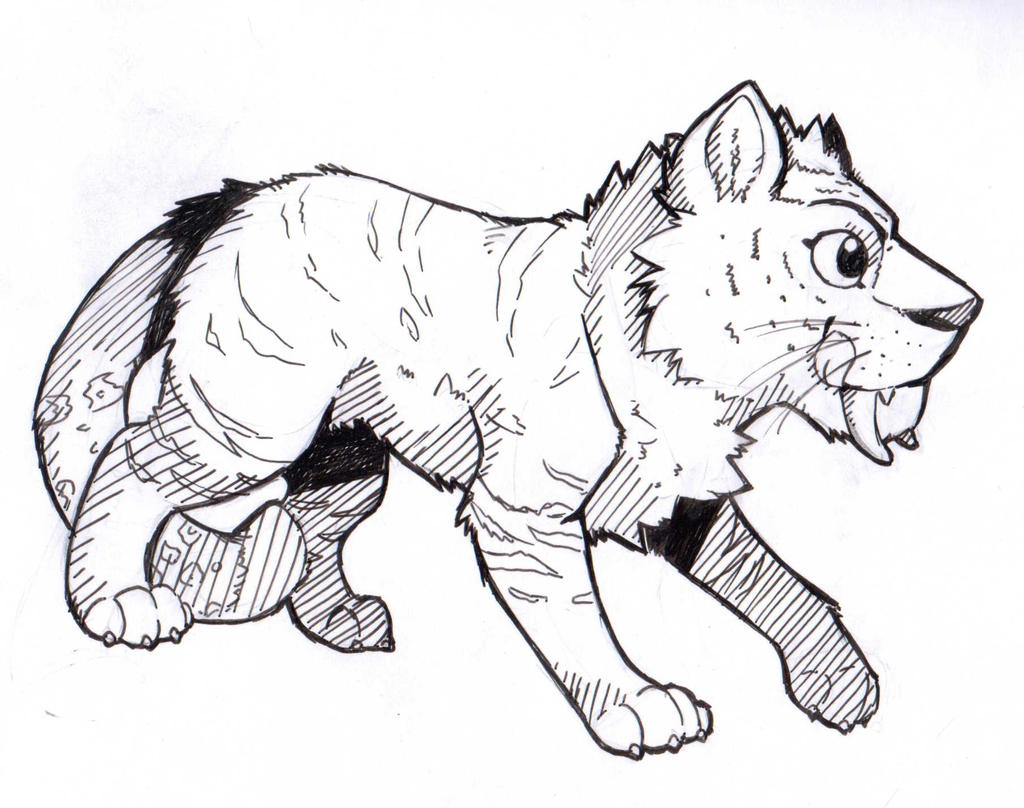 The Croods Tiger sketch by Nell-of-Shadows on DeviantArt