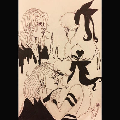 Lisa Simpson x Blossom by rex000013
