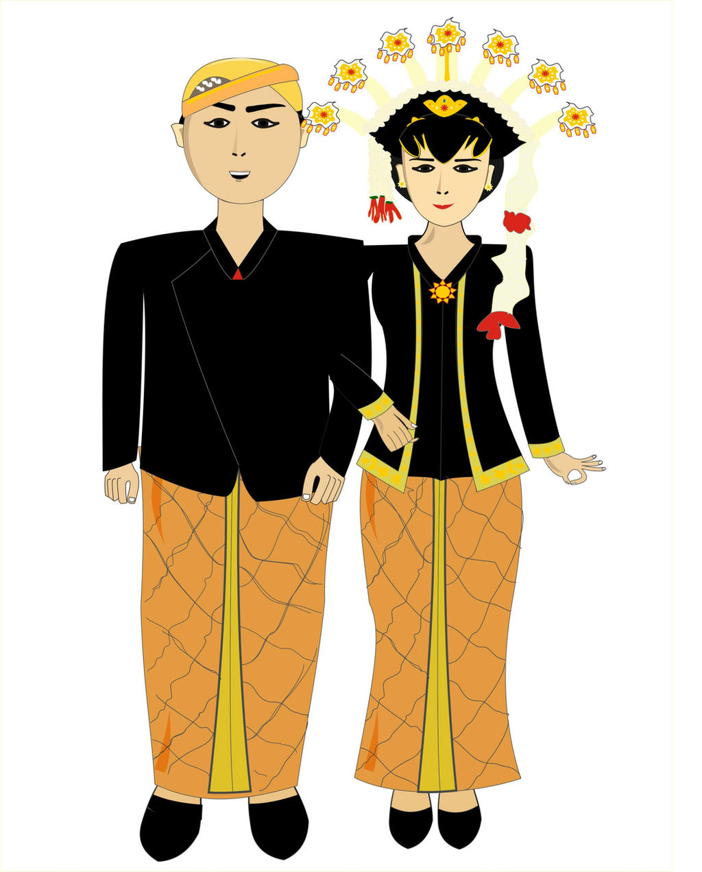 pakaian adat jawa tengah by rosalinamurhidac on deviantart pakaian adat jawa tengah by
