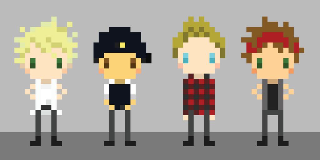 pixel art 5sos