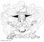 Hippie witch - INKTOBER
