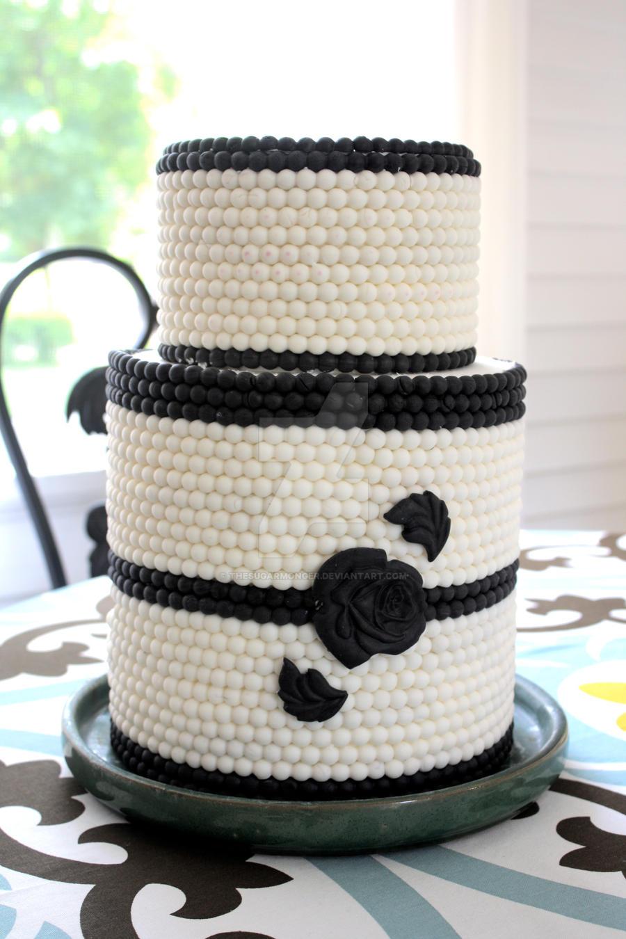 Navy Blue White Wedding Cake by theSugarmonger on DeviantArt
