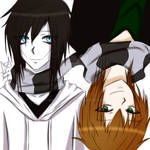 A scarf that unites us~/Liu and jeff the killer