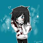 I love you Knife /Jeff chibi xD