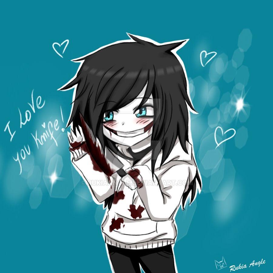 Anime Girl Killer Wallpaper: I Love You Knife /Jeff Chibi XD By RukiaAngle On DeviantArt