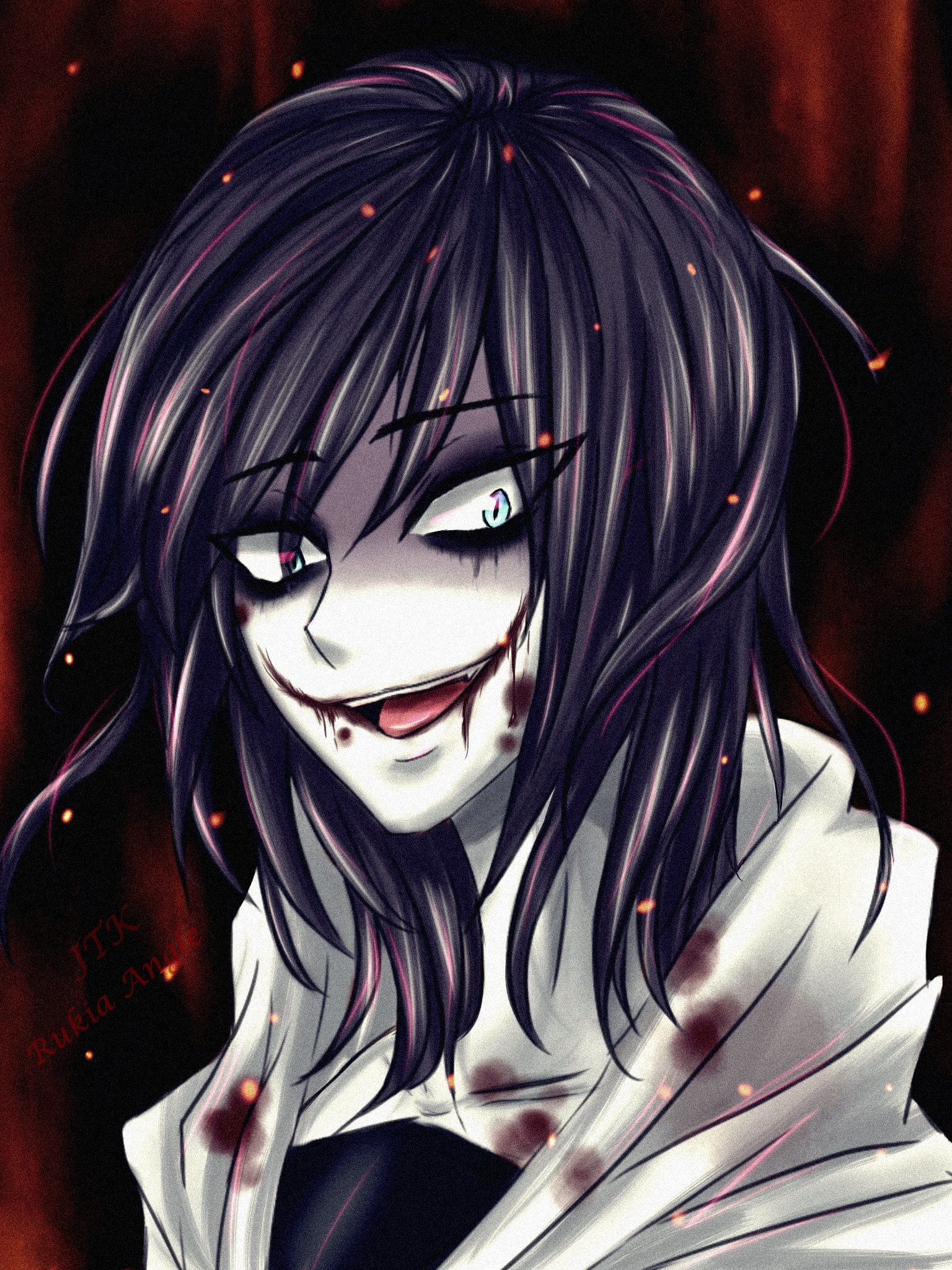 It's just a graphic of Revered Jeff The Killer Anime Drawing