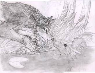 watergazerwolf- surprise? by ashtinwolf