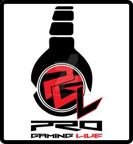 ProGamingLive logo final white red live by KonEllin
