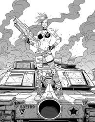 Tank Girl ink