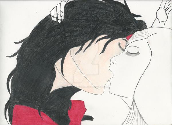 Almost Finished Tifa and Vincent Drawing. by Kaoru-Lynn-Kamiya