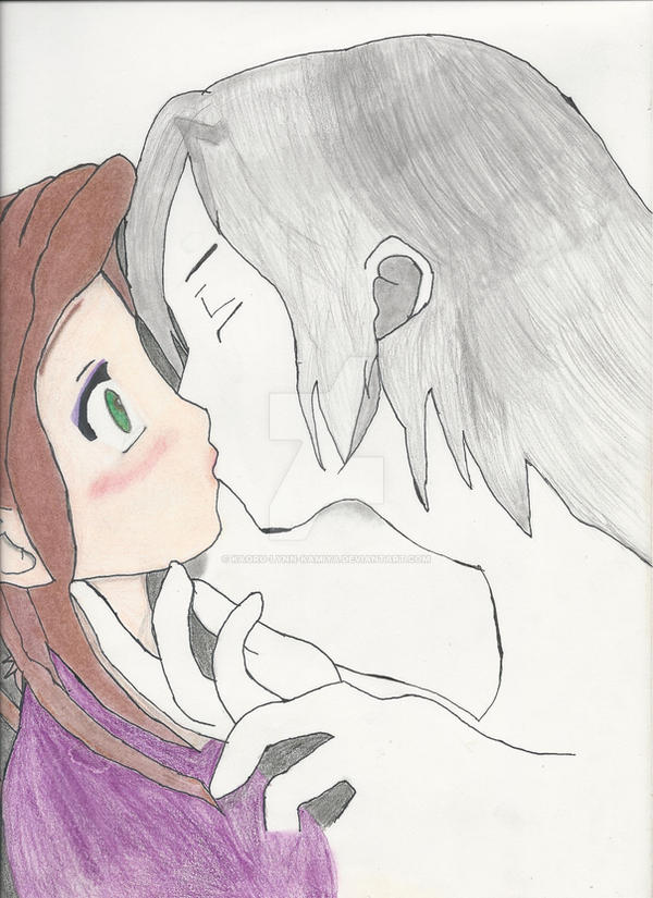 The side of the man in the picture kissing my OC. by Kaoru-Lynn-Kamiya