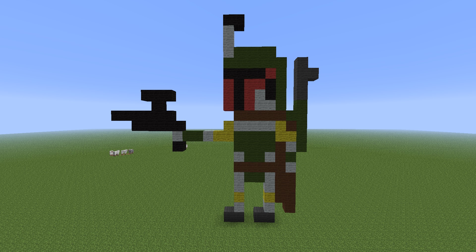 Boba Fett in Minecraft by branduboga