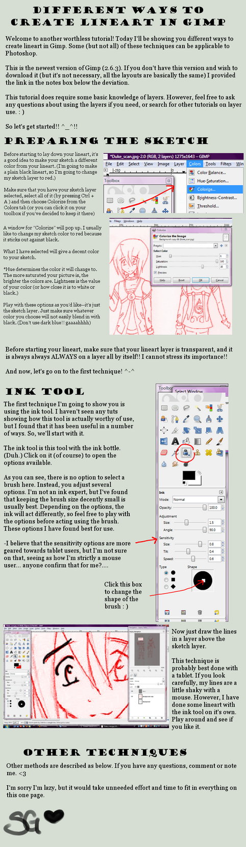 Line Drawing Gimp : Lineart guide for gimp by shimagenki on deviantart