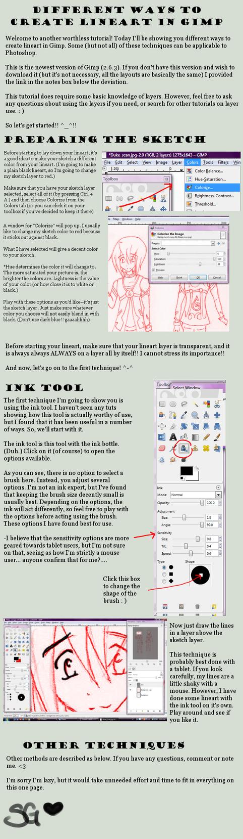 Line Art In Gimp : Lineart guide for gimp by shimagenki on deviantart