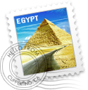 EGYPT stamp by egyptians