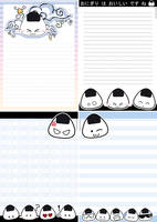 Onigiri letter by MilkyBerry