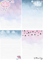 It's snowing today letter paper by MilkyBerry