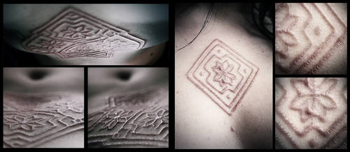 Scarification : one month old by MilkyBerry