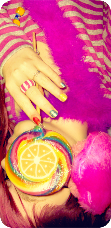 With my candy magnifier    by MilkyBerry - �eKer Gibi AvatarLaR