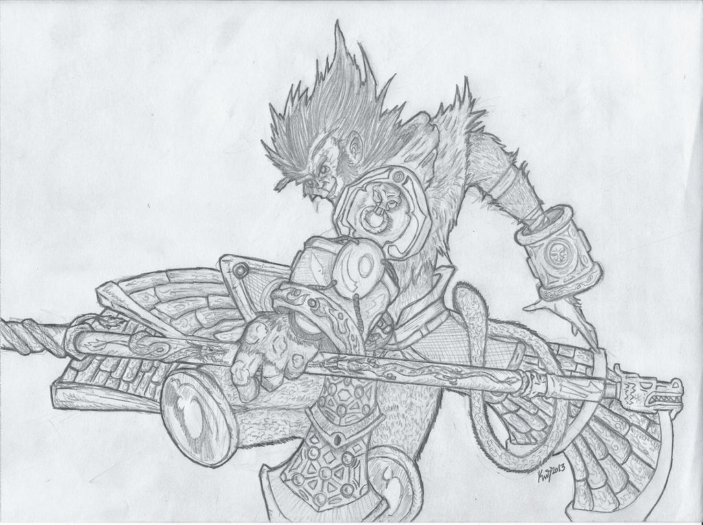 It is a graphic of Fan Sun Wukong Drawing