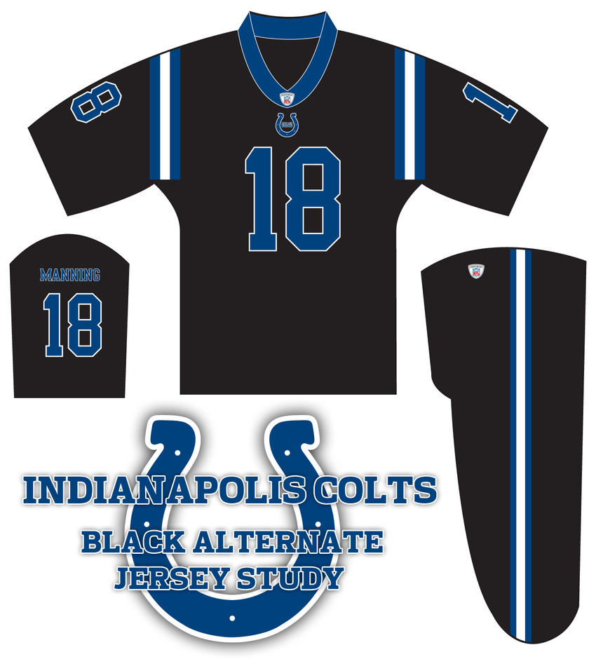 Colts Black Alternate Jerseys by monkeybiziu