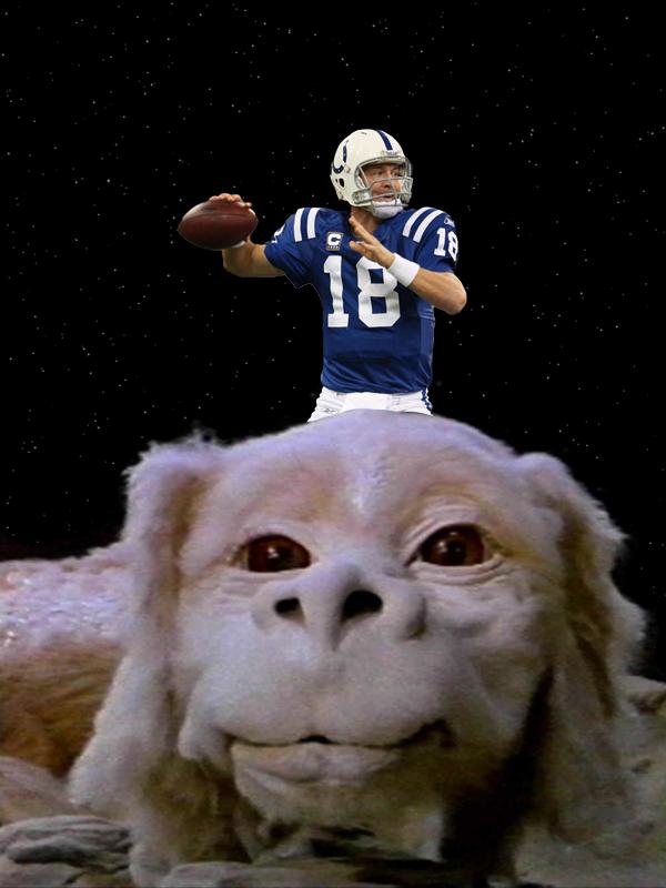 Manning On Falcor by monkeybiziu