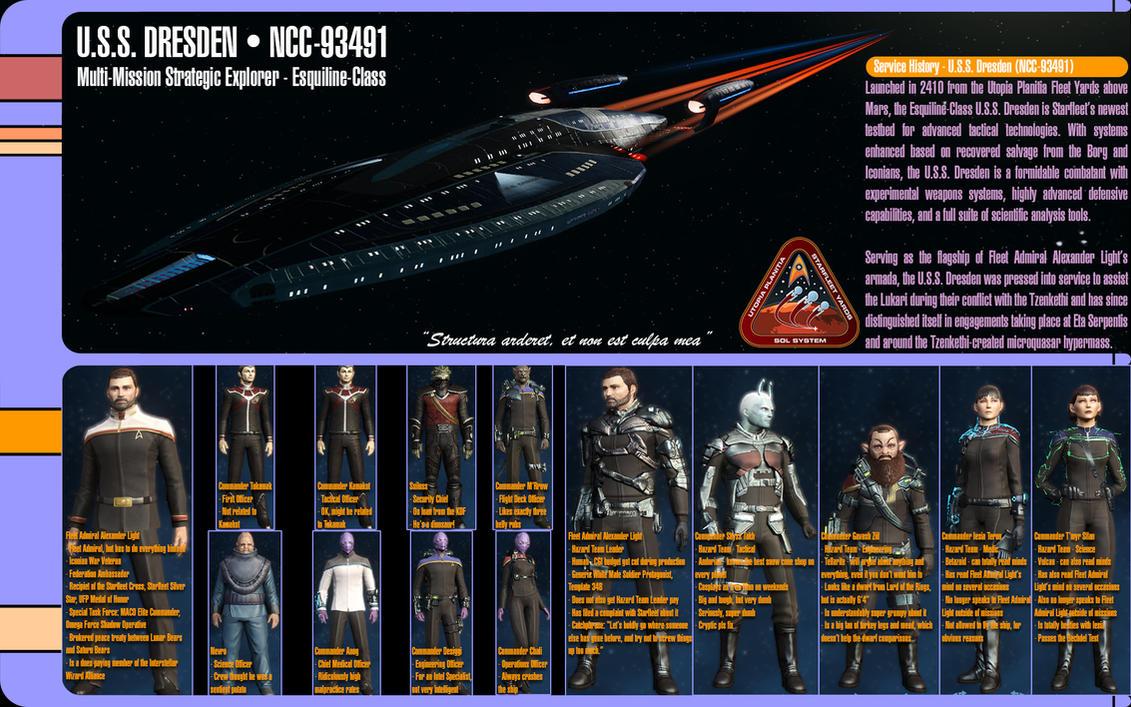 Star Trek Online - U.S.S. Dresden by monkeybiziu