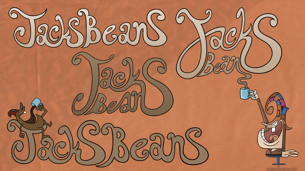 Jacks Beans Coffee Bean Label/Logo by Cosmic-Onion-Ring