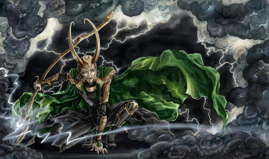 Loki, the God of Mischief - Colored by ciacheczko on ...